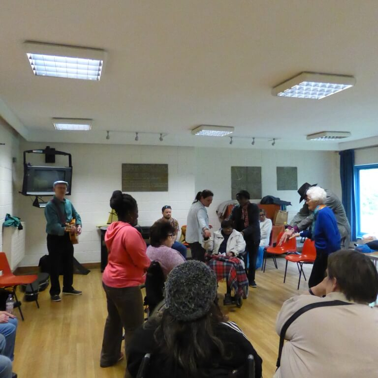 Singalong and dancing with Music for People May 2016